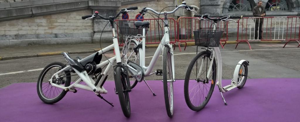 streetstepper, fiets en step