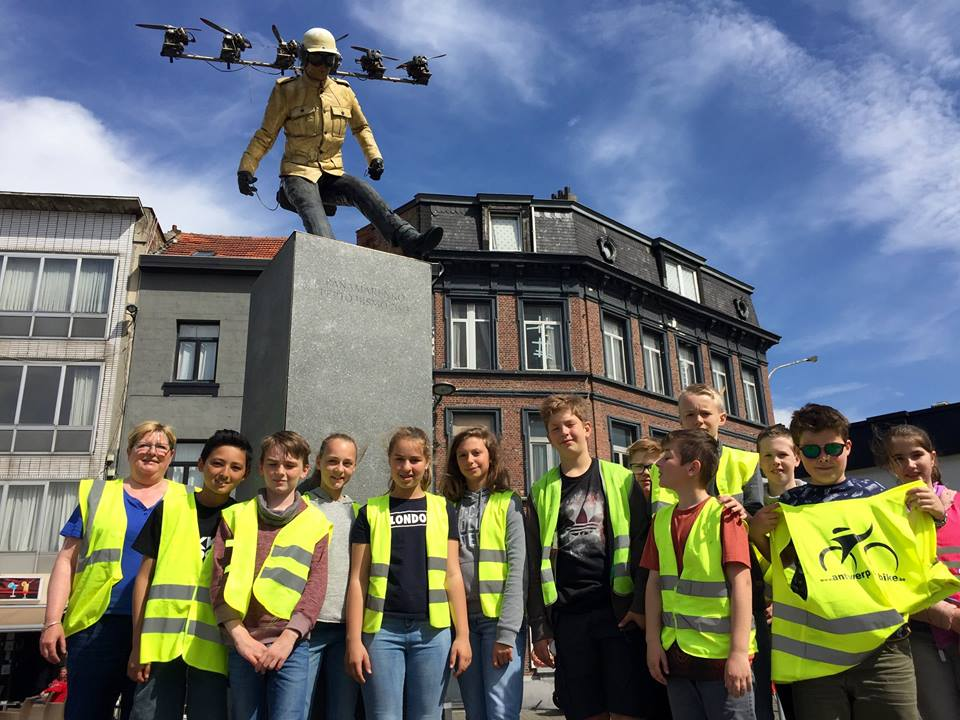 Fietsttour Antwerpen school