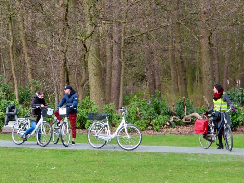 Fietsen van Antwerp by Bike in het Middelheimpark