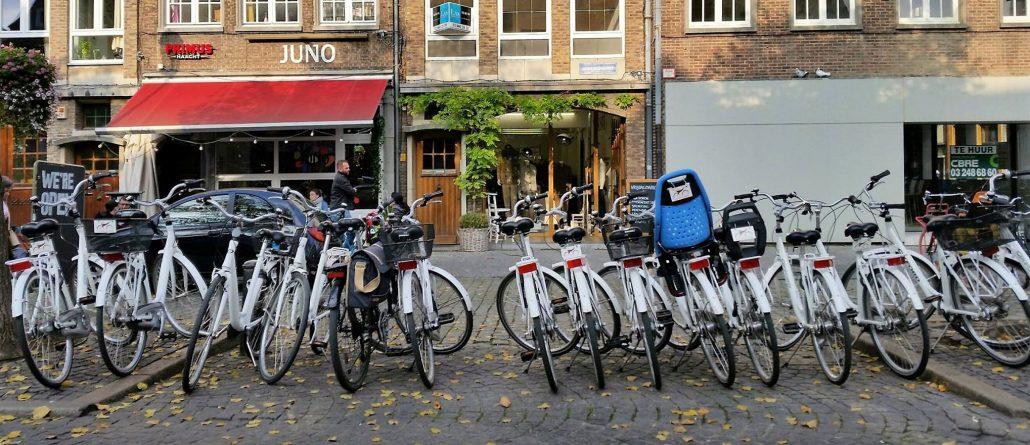 fietsen op de Vrijdagmarkt