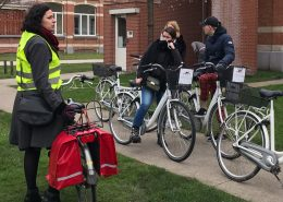 Bike tour guide at groen kwartier in Antwerp
