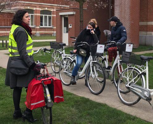 Bike tour guide at groen kwartier in Antwerp